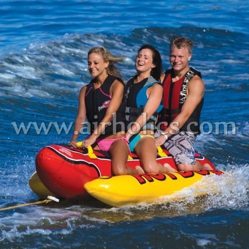 2015 new 0.6mm pvc inflatable single hull banana boat for sale W3015 - A