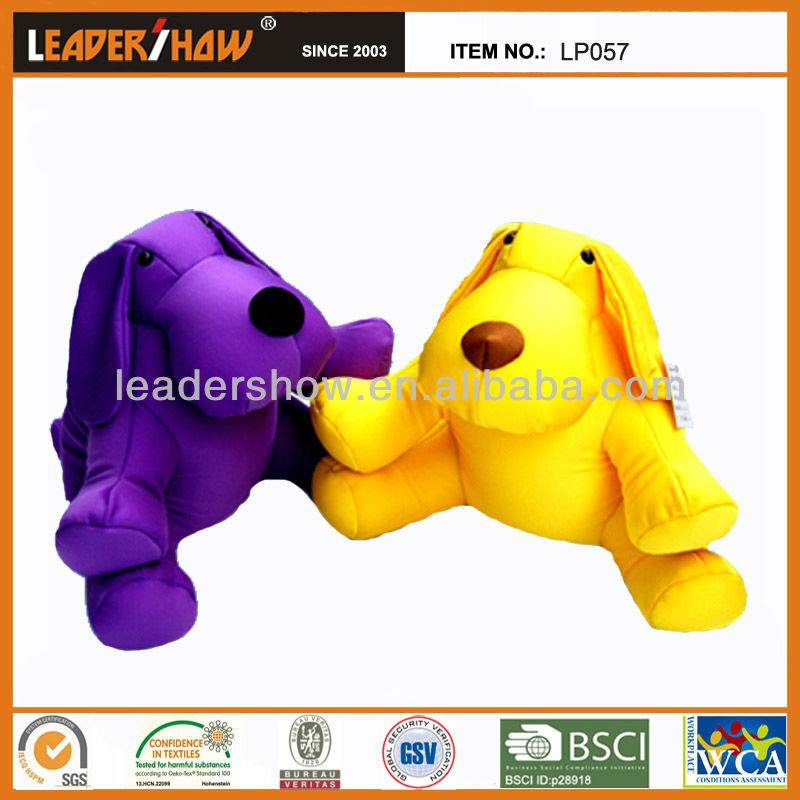 Dog cushionsin customized fabric color / Soft beads kid's toys