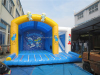 The smurfs hot sale customized inflatable bouncer castle