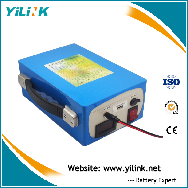 Rechargeable lithium iron phosphate deep cycle battery 12v 40ah LiFePO4 for solar street light