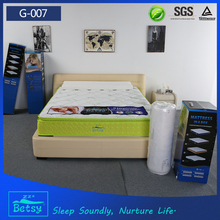 Perfect sleep bed spring mattress in a box with bamboo knitted fabric