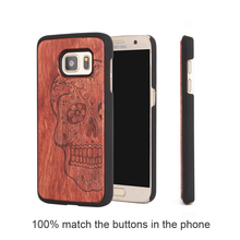 2017 Real Wood Bamboo case for samsung galaxy s7 edge