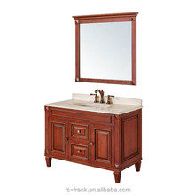 Frank - American style bathroom vanity set with natural marble top and backsplash