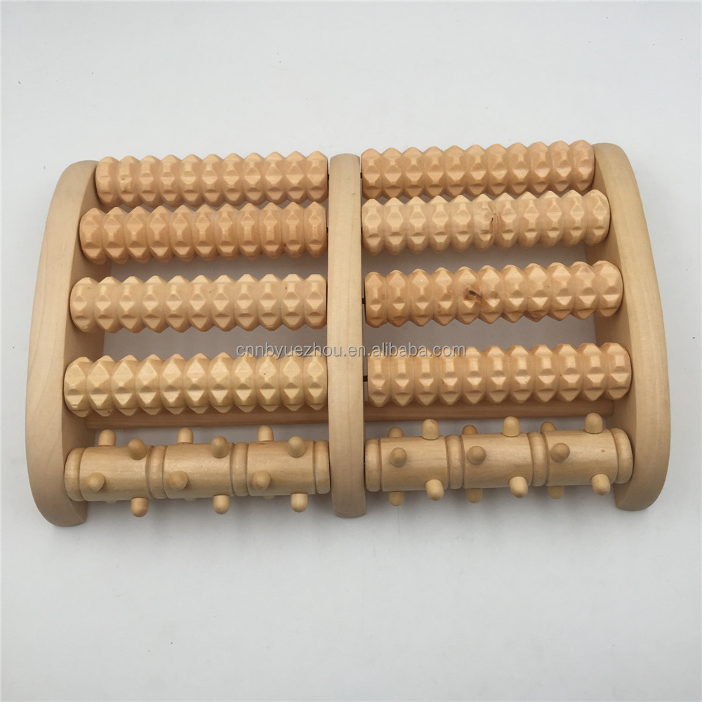 OEM high quality personal wooden foot roller massager