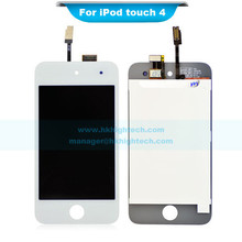 brand new lcd for ipod touch 4 front touch screen assembly white