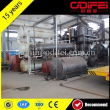 high quality 10 tons scrap tyre pyrolysis production line for sale