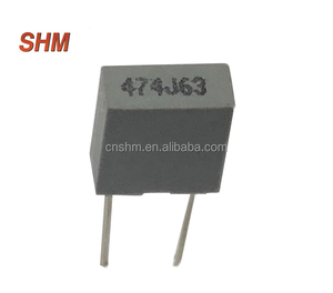Metallized Polypropylene Film Capacitor (Dipped) CBB21 474 J 63VDC