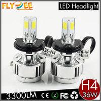 Super Bright 36W 3300LM H4 H7 H10 H8 H9 H11 9005 9006 A233 A336 3 Sides COB LED Headlight