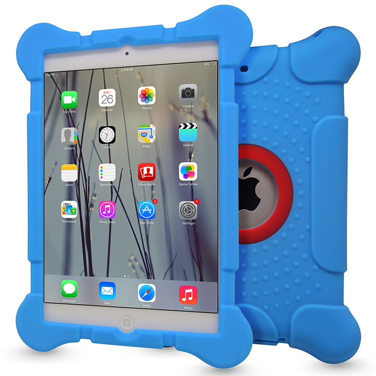 2016 High Quality 4 Corners Shockproof Protective Silicone Case for iPad Mini 2