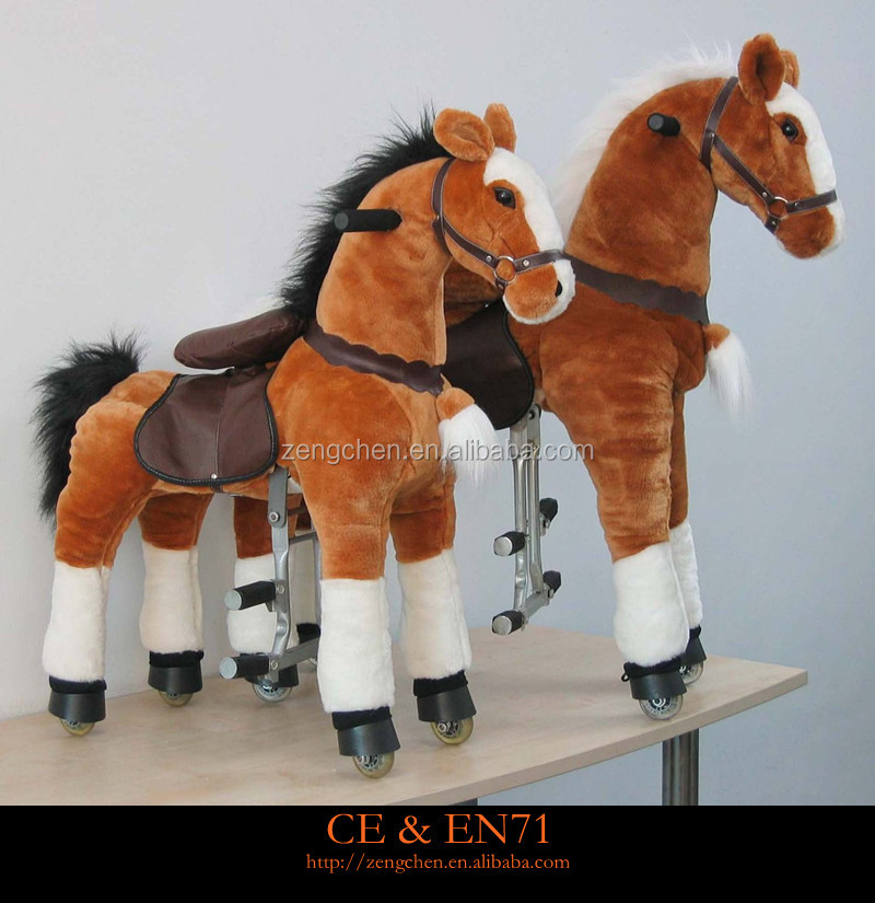 Funny Kids Wooden Rocking Horse!!!Promotional Horse Mechanical walking ride on Animal Toy