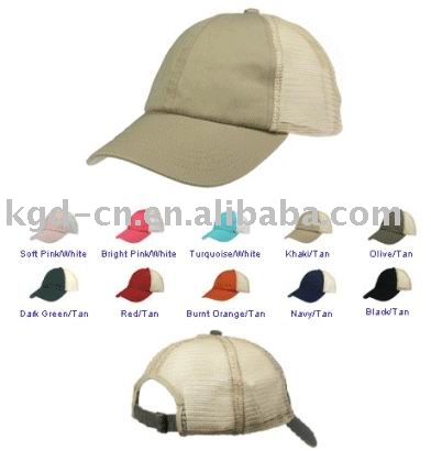 Polo style cap(sports cap , mesh back)
