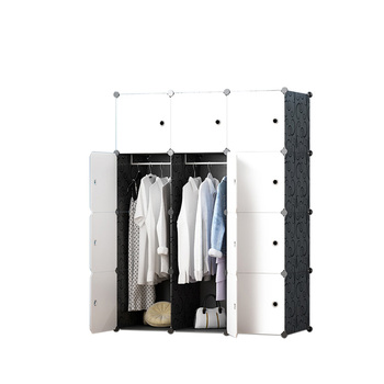 Manufacturers Direct Low Price Diy Plastic Adult Foldable Clothing Wardrobe  Closet