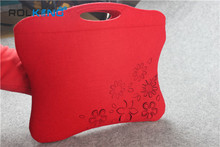 Red 7 inch felt tablet cover