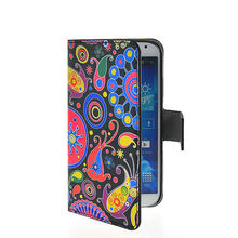 Graphic Leather Wallet Case for Galaxy S4 i9500
