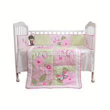 China factories bestest Baby Bedding Set purple new style stain embroidered baby cot bedding set