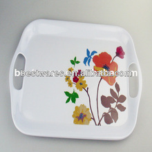 melamine flower decal tray