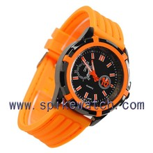 Orange color fashion teenager watch wholesale korean style watches