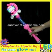 new china products for sale,light up novelty,glow light sticks,plastic lighted wand,princess magic musical wand ZH0901226