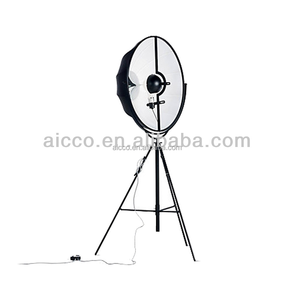 Modern Fortuny Floor Lamp With White Black Red Color Umbrella Shape Designer Floor Lamp