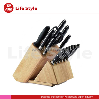 15 pcs stainless steelknife kitchen set with scissors and steak knife produced by knife manufacturer