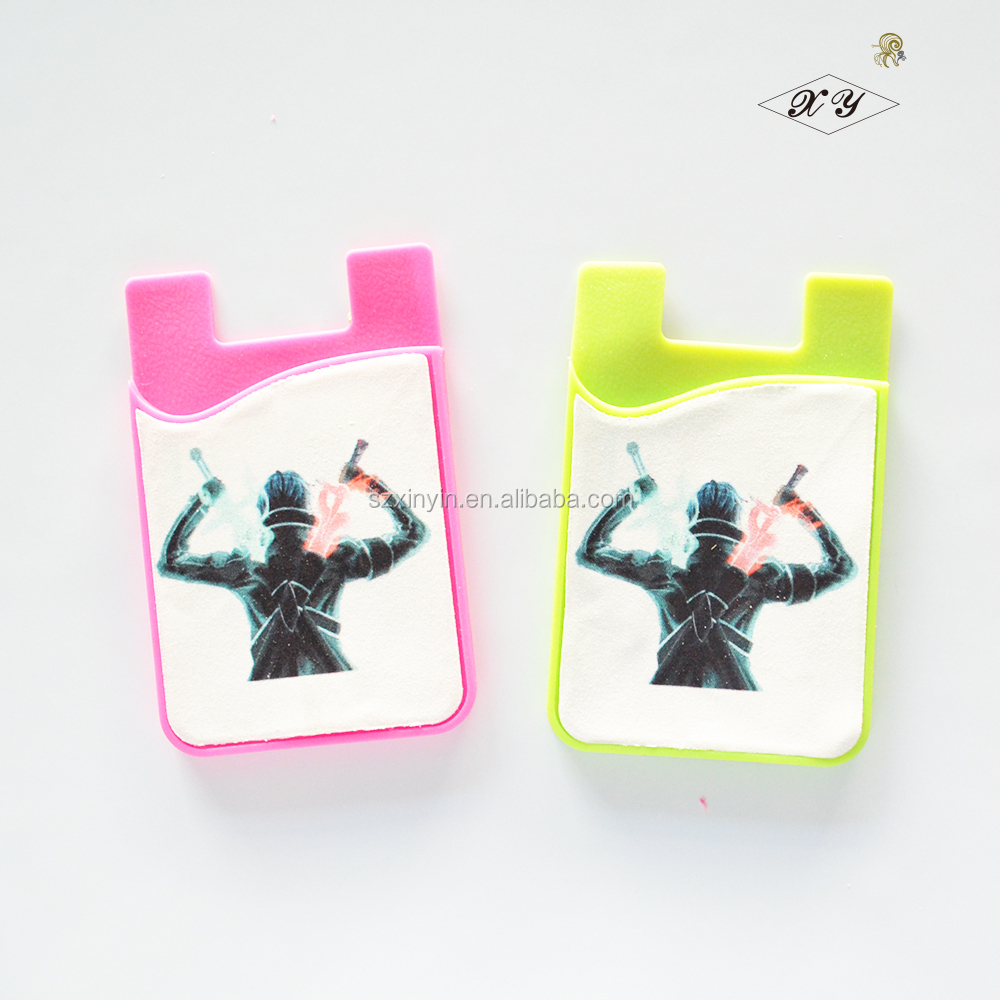 Hot selling Custom metro card holder for phone Sticky mobile phone cardholder