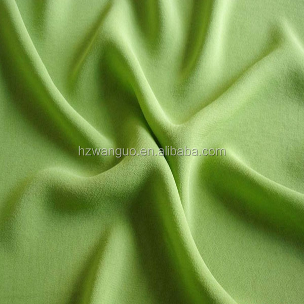 Beautiful color 100% silk crepe de chine fabric