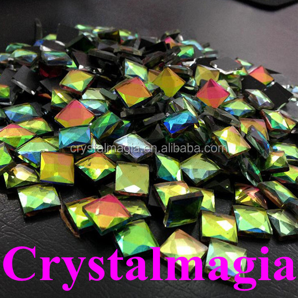 wholesale square shape flat back nail art decoration crystal rhinestone