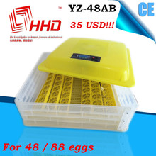 YZ-48AB 98% hatching rate automatic egg incubator for fighting cock 48 eggs capacity