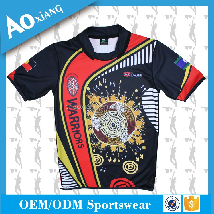 Special OEM design Men's rugby jersey with your own logo and pattern rugby uniform