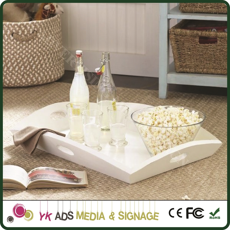 Wire mesh tray Home Decoration Wood Food Serving Tray Natural