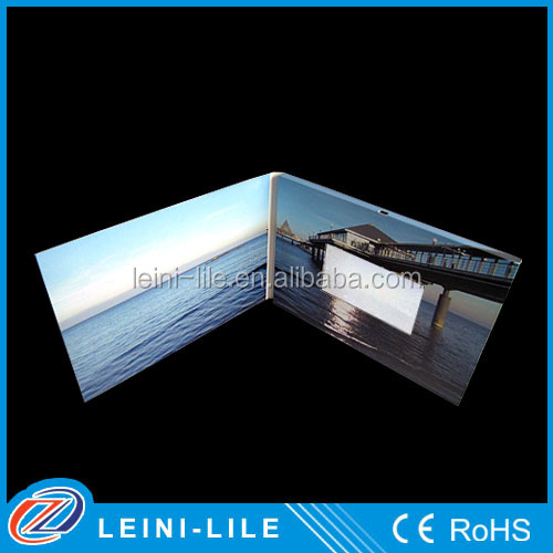 Promotion gift lcd video greeting card with usb