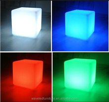 Outdoor and Indoor Decorative Cube Shape Colorful Rechargeable LED Mood cube Light
