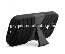 Wholesale 3 in 1 New robot Silicone case for samsung galaxy s4 i9500 stand case,silicon case for i9500