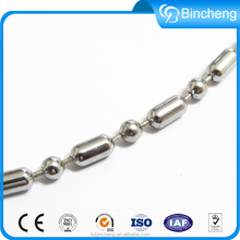 Steel ball curtain chain with connector