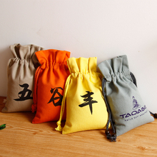 Manufacturer reusable customized promotional gift cotton canvas bag mini pouch jewelry pouch with logo