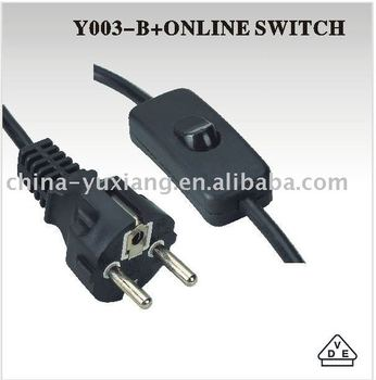 Europe power cord with plug