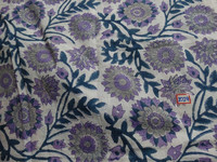 Designer sanganeri Hand block print fabric indian floral cotton printed fabric from india