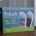 Exhibition fabric pop up banner