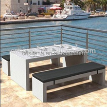 Sigma outdoor dining furniture giant pool table and restaurant bench seat