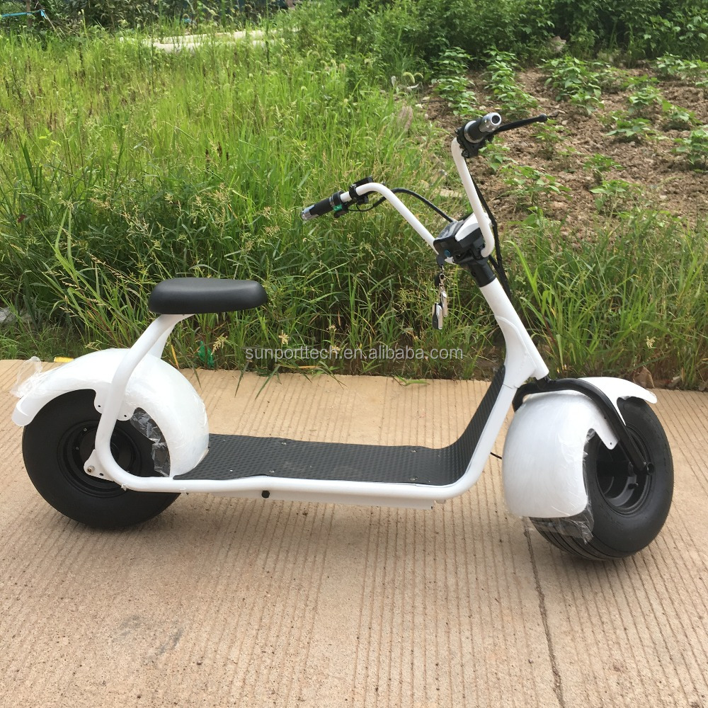 Sunport fat tire electric scooter OEM acceptable evo 60v 2000w electric scooter for adult with front /rear lights