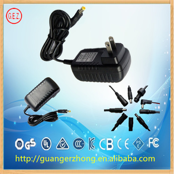 12W AC DC adapter with US approval