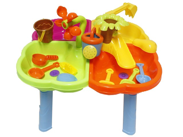 Outdoor Water Toys Product : Sand and water table beach toy set outdoor view