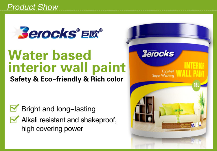 The green environmental protection asian waterproof for Exterior water based paint
