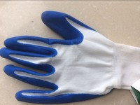 Protective gloves nitrile coated nylon glove