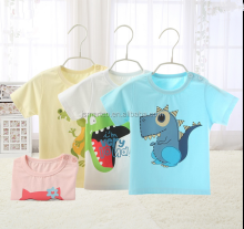 jiangxi cheap good quality fashion baby screen printing 100% cotton baby t shirt