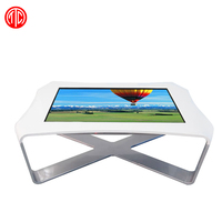 Touch screen conference table/high quality touch table with curved shell