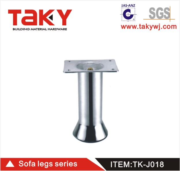 TK-J018 office sofa hardware metal furniture sofa satin silver iron leg