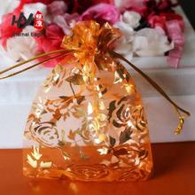 Sheer custom good quality small organza pouch