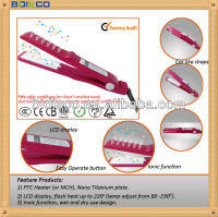 Wet and Dry using hair straightener float plate flat iron PTC heat element