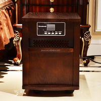 Homeleader 1500W Digital Infrared Quartz Heater with Remote control, WOOD CABINET OAK, IWH-01